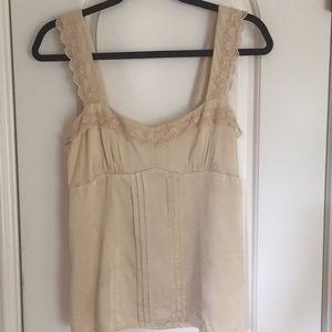 Nanette Lepore Silk & Lace Cami Top - Size 6